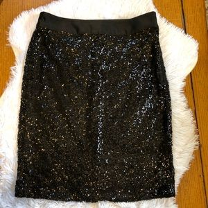 The Limited Sequin Pencil Skirt